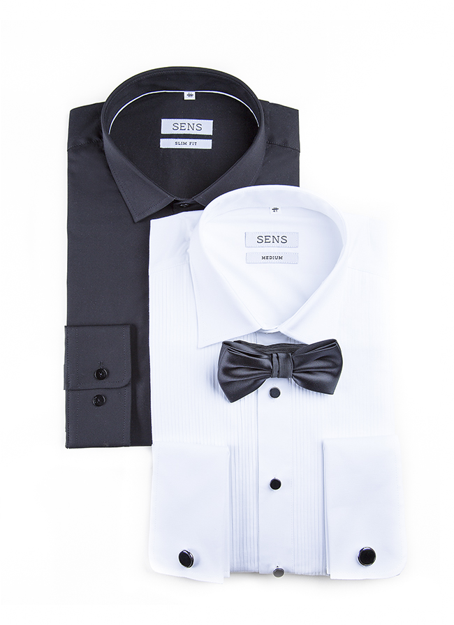 Moške maturantske poslovne poročne srajce